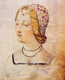 Raffigurazione di Laura, conservata presso la Biblioteca Medicea Laurenziana