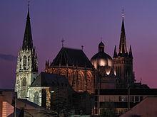 Cattedrale di Aquisgrana, veduta notturna