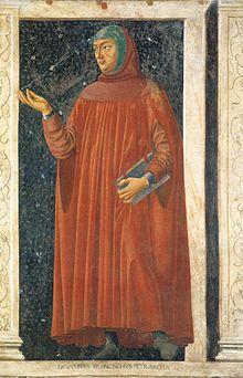 Andrea del Castagno, Petrarca dalla Serie degli uomini illustri